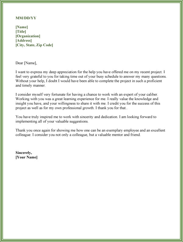 Thank You for Your help Letter to Colleagues 04