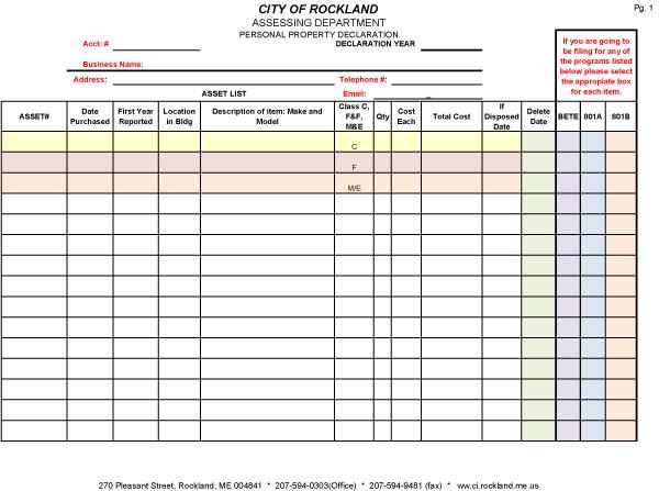 asset list template 01