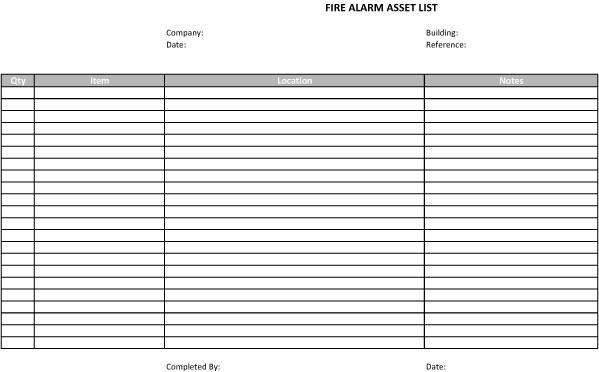 asset list template 02