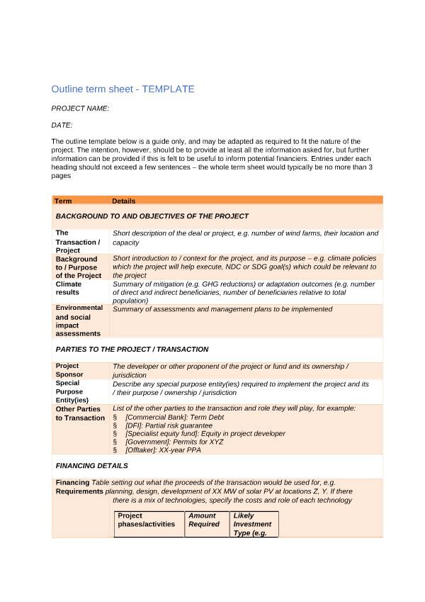 term sheet template 01 (1)