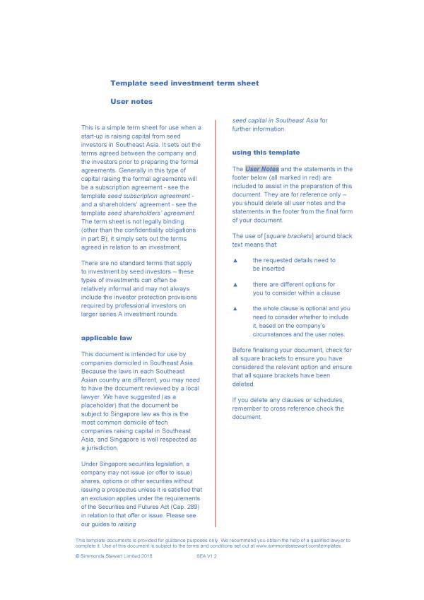 term sheet template 04 (1)