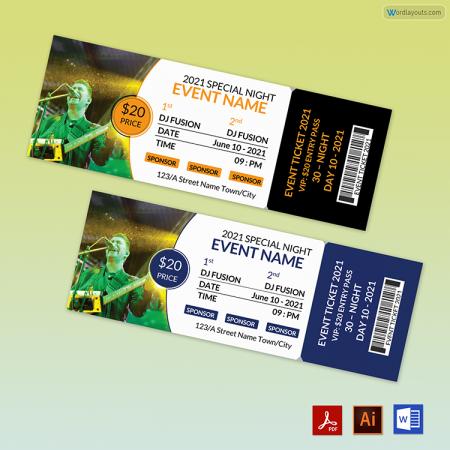 Concert Event Tickets 01