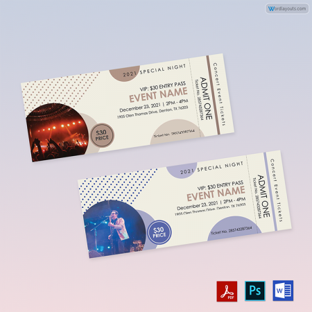 Concert Event Tickets 02