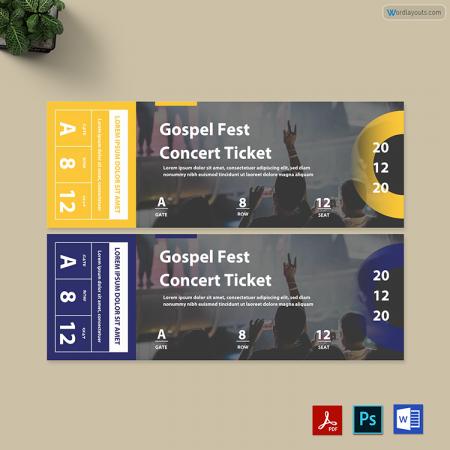 Gospel Fest Concert Ticket 01
