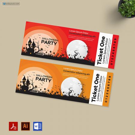 Halloween Ticket 02