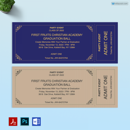 Realistic Event Ticket 01