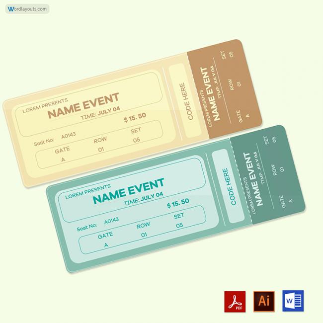 Vintage Event Ticket 02