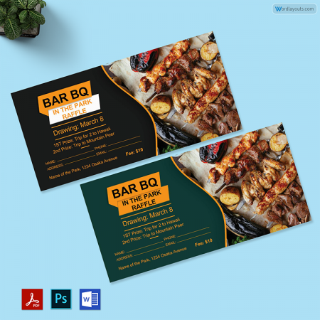 BarbeQue Raffle Ticket 01