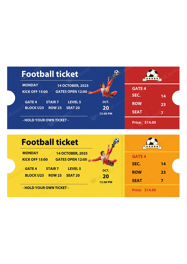 Charitable Sports Event Ticket 02