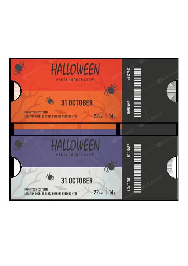 Halloween Ticket 01