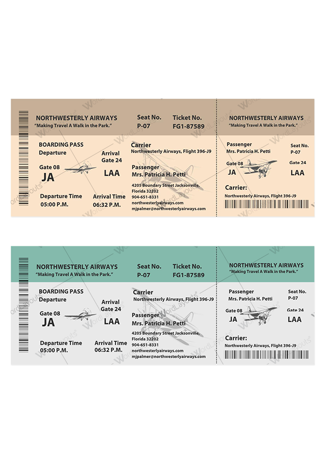 Vintage Event Ticket 01