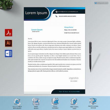 Letterhead Template 142