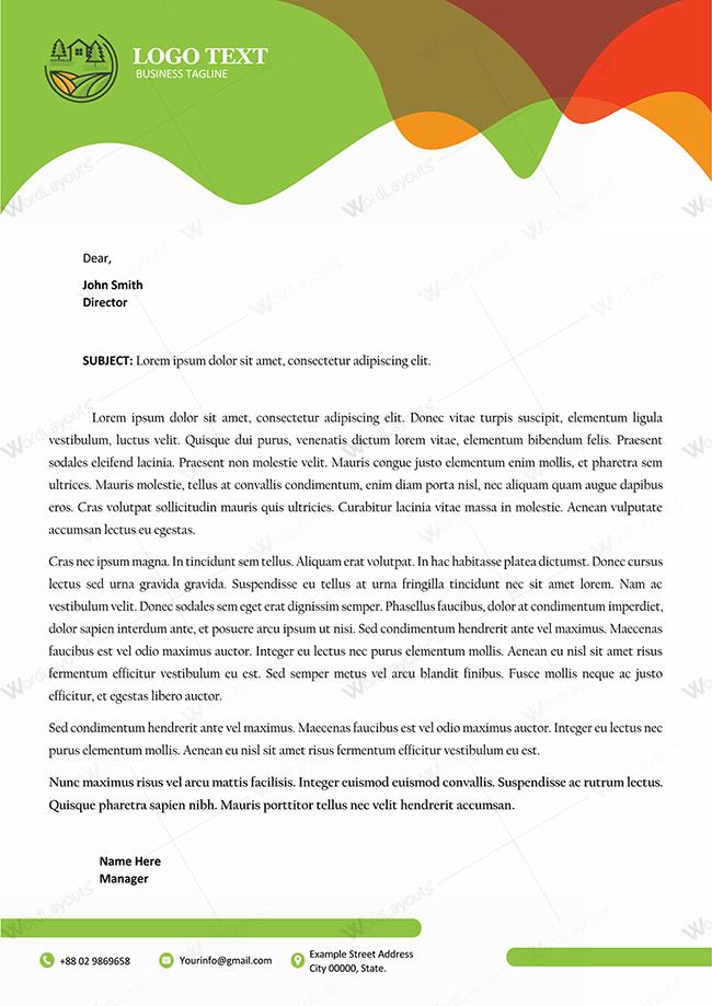 Letterhead Template 121