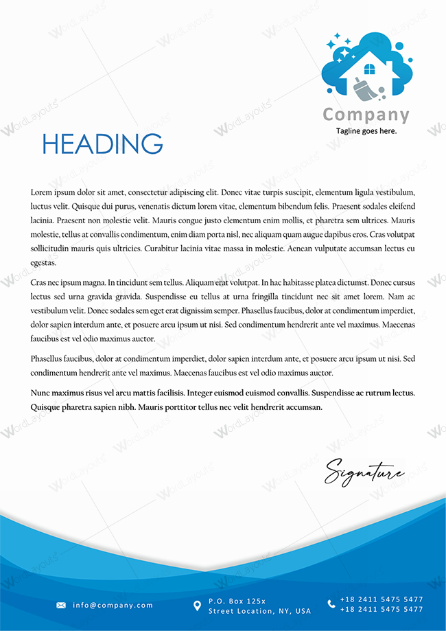 Letterhead Template 125