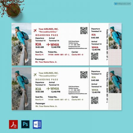 Tour Ticket Template 02