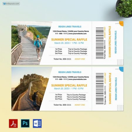 Tour Ticket Template 01