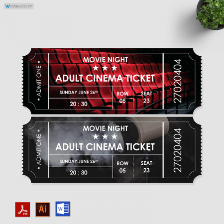 Movie Ticket Template 01