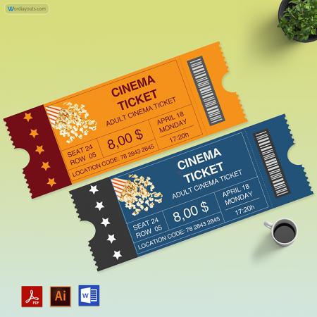 Movie Ticket Template 02