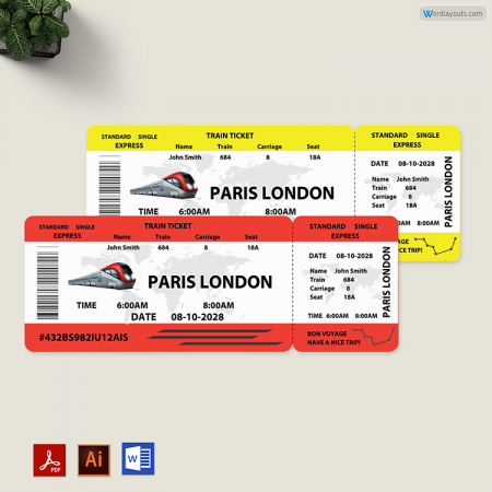 Train Ticket Template 01