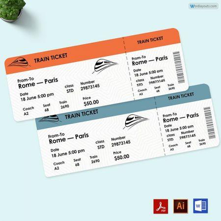 Train Ticket Template 02
