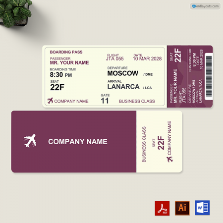 Travel Ticket Template 01