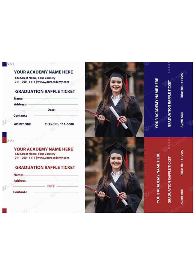 Graduation Raffle Ticket Template 01