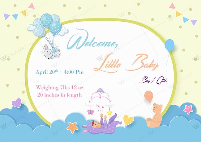 Baby Announcement 03