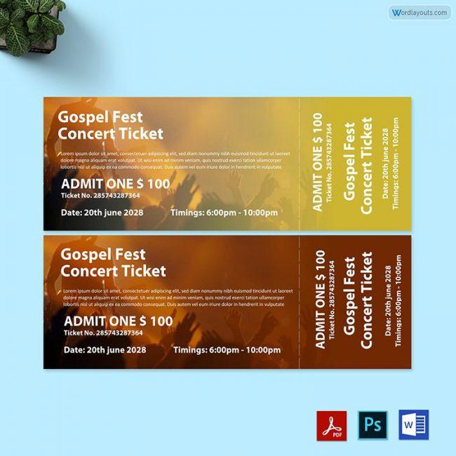 Gospel Fest Concert Ticket 02