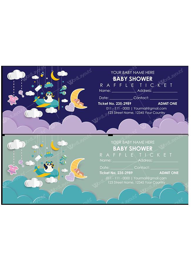 Baby Shower Raffle Ticket Template 02