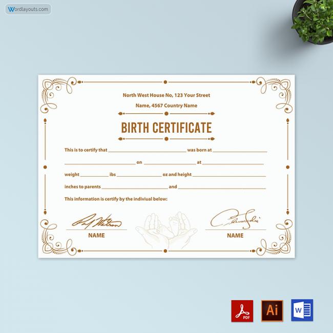 Birth Certificate (Attractive Background)