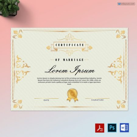 Lining Background Marriage Certificate