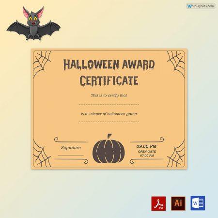 Halloween Award Certificate 03