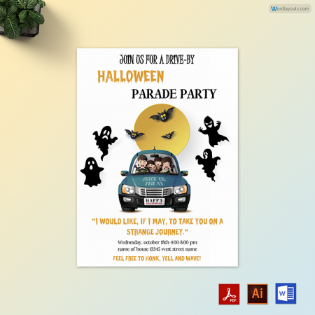 Halloween Party Invitation 01