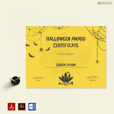 Halloween Award Certificate 02