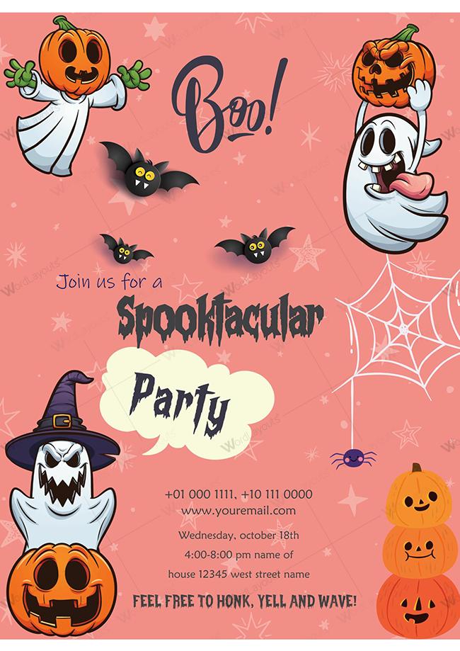 Halloween Party invitation 04