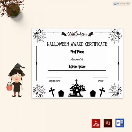 Halloween Award Certificate 06
