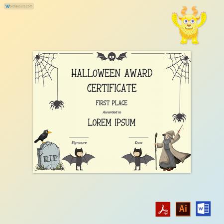 Halloween Award Certificate 07