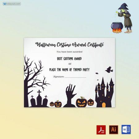 Halloween Award Certificate 09