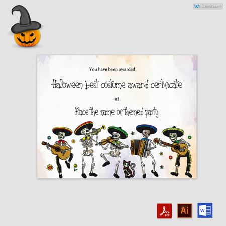 Halloween Award Certificate 12