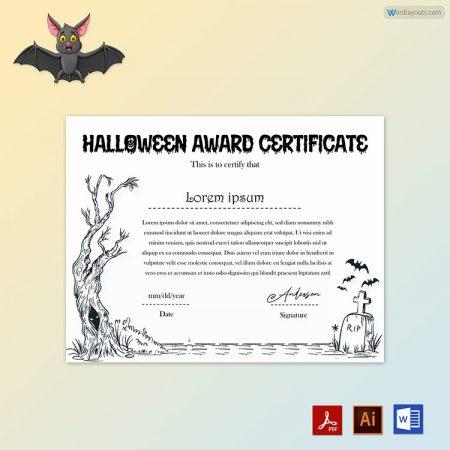 Halloween Award Certificate 14