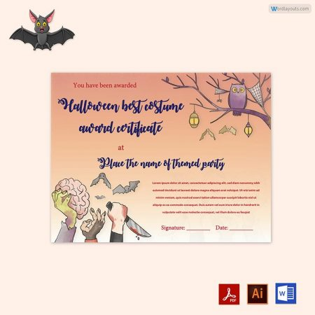 Halloween Award Certificate 13