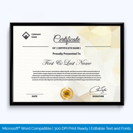 Award Certificate Abstract Background