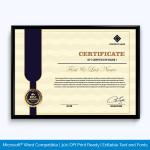 Ribbon Vector Award Certificate