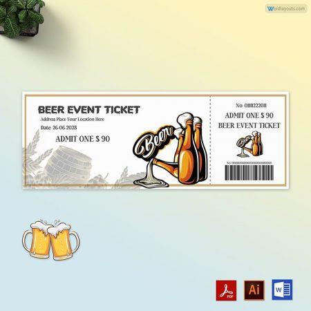 Beer Event Ticket 02