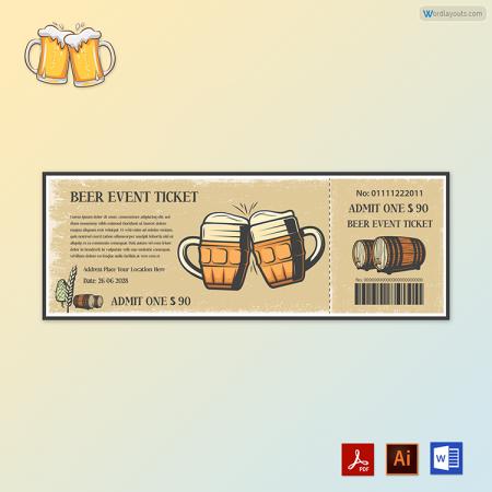 Beer Event Ticket 01
