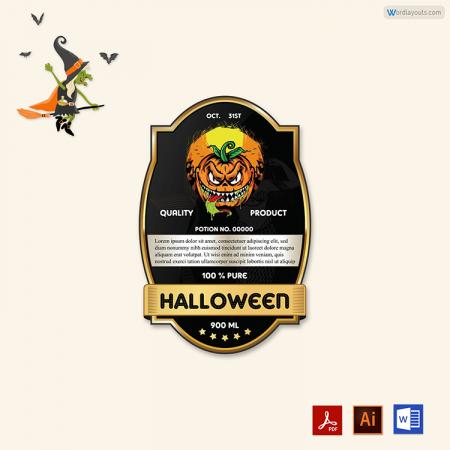 Halloween Bottles Labels 09