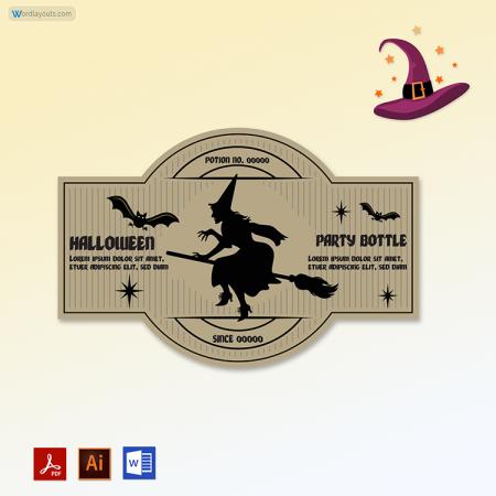 Halloween Bottles Labels 03